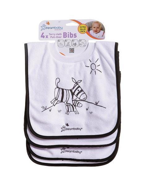 dreambaby-dreambaby-jungle-terry-cloth-design-pull-over-bibs