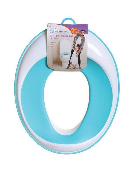 dreambaby-dreambaby-ezy-toilet-trainer-seat-slimline-contour-design-aqua-white-colour