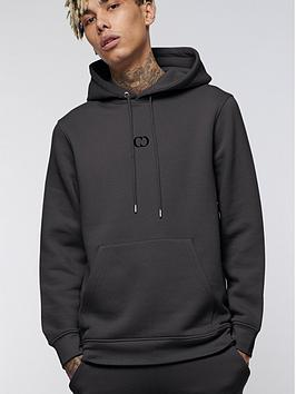 criminal-damage-eco-pullovernbsphoodie-charcoal