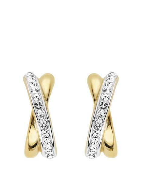 evoke-sterling-silver-crystal-kiss-stud-earrings