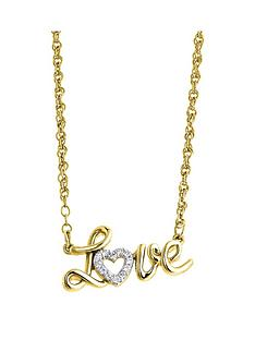 love-diamond-sterling-silver-yellow-gold-plated-diamond-love-necklace