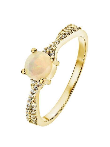 love-gem-love-gem-9ct-yellow-gold-opal-and-010ct-diamond-ring