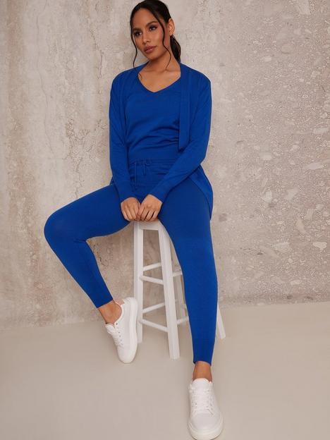 chi-chi-london-3-piece-cardigan-lounge-wear-set-cobalt