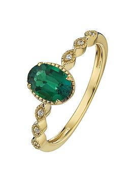 love-gem-9ct-yellow-gold-created-emerald-and-diamond-ring
