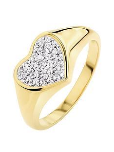 evoke-925-sterling-silver-yellow-gold-plated-swarovski-crystal-heart-signet-ring