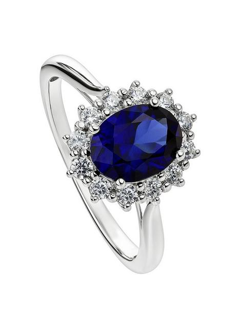 created-brilliance-cate-created-brilliance-9ct-white-gold-created-sapphire-and-025ct-lab-grown-diamond-cluster-ring