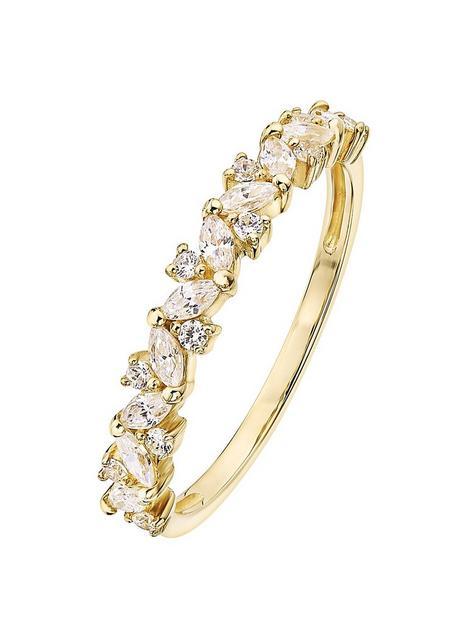 love-gold-9ct-yellow-gold-white-cubic-zirconia-half-eternity-ring