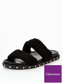 v-by-very-faux-fur-slider-sandal-black