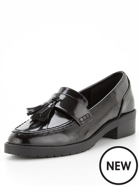 v-by-very-chunky-tassel-loafer-black
