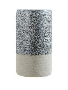 premier-housewares-speckled-stoneware-caldera-vase