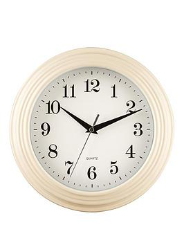 premier-housewares-classic-cream-wall-clock