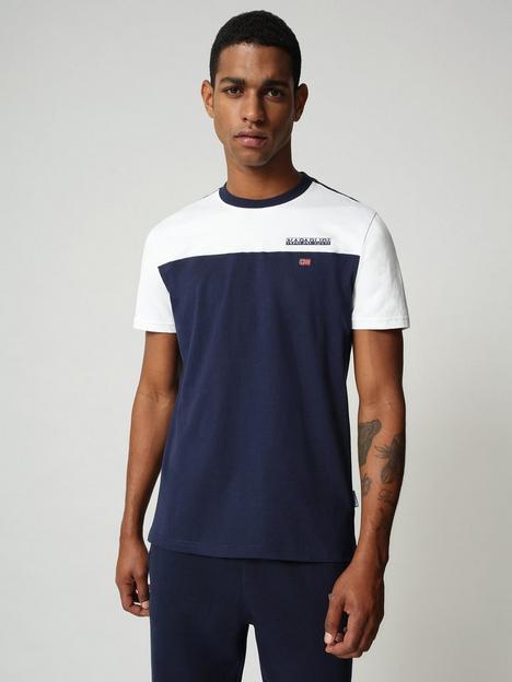 napapijri-colour-block-t-shirt-blue