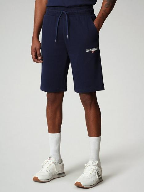 napapijri-logo-sweat-shorts-blue