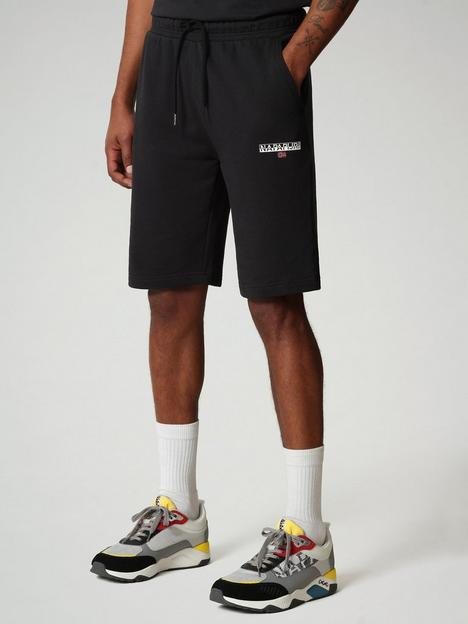 napapijri-logo-sweat-shorts-black