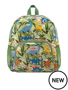 cath-kidston-boys-dinosaur-jungle-large-backpack-with-mesh-pocket-pale-green