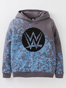 wwe-boys-wwe-bluenbspsplatter-hoodie-grey
