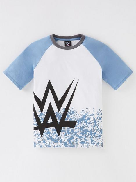 wwe-boys-wwe-raglan-logo-t-shirt-white