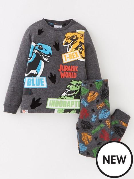 jurassic-world-boys-jurassic-world-lego-long-sleeve-pyjamas-dark-grey