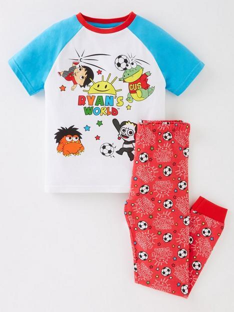 ryans-world-boys-ryans-world-football-short-sleeve-pyjamas-multi