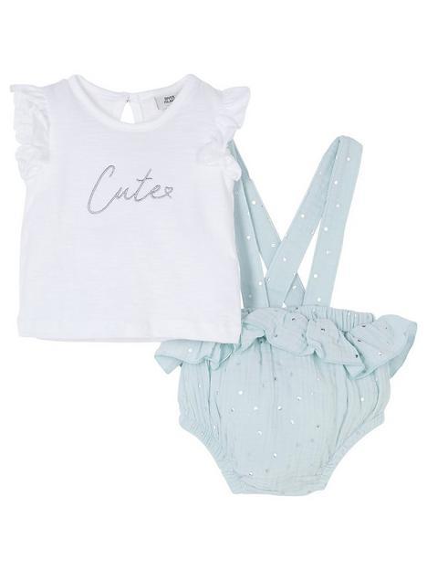 river-island-baby-baby-girls-bubble-hem-romper-and-t-shirt-set--nbspgreen