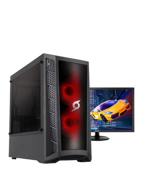 zoostorm-stormforce-onyxnbspdesktop-pc--nbspintel-core-i3-10100f-gtx-1650-graphics-8gb-ram-120gb-ssd-with-24-inchnbspmonitor-keyboard-amp-mouse