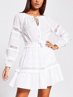 river-island-lace-insert-sleeve-smock-beach-dress-white