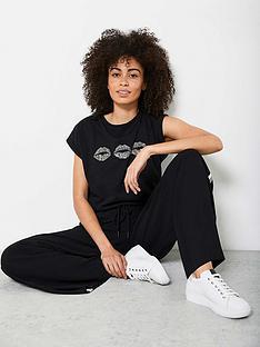 mint-velvet-trio-zebra-lips-t-shirt-black