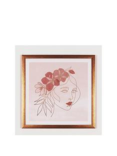 arthouse-boho-face-framed-print