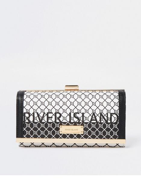 river-island-monogram-purse-black