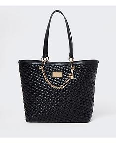 river-island-woven-shopper-bag-black