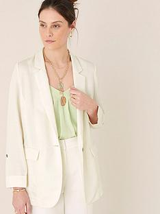 monsoon-linen-smart-longline-jacket-ivory