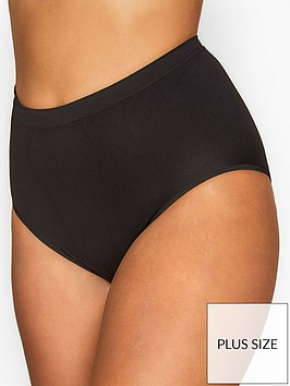 yours-yoursnbsplondon-seamless-light-control-briefs-black