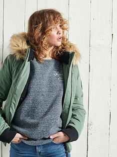 superdry-superdry-faux-fur-trim-microfibre-padded-bomber-jacket-green