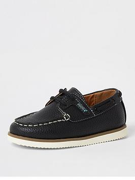 river-island-mini-mini-boys-rubber-boat-shoe-navy