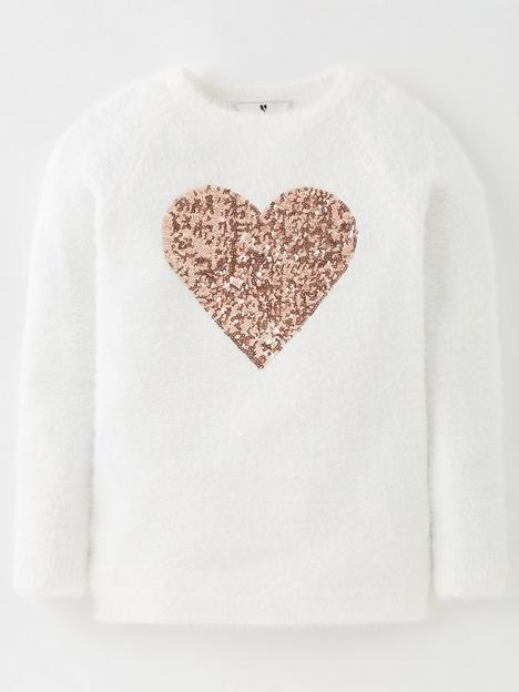 v-by-very-girlsnbsplongline-heart-fluffy-jumper-white