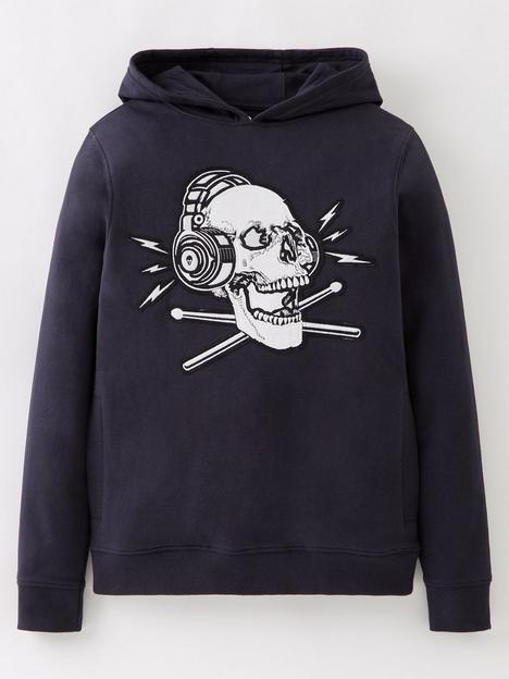 v-by-very-boys-single-skull-hoodie-navy