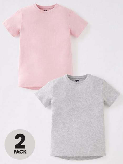v-by-very-girls-2-pack-longline-basic-t-shirts-greypink