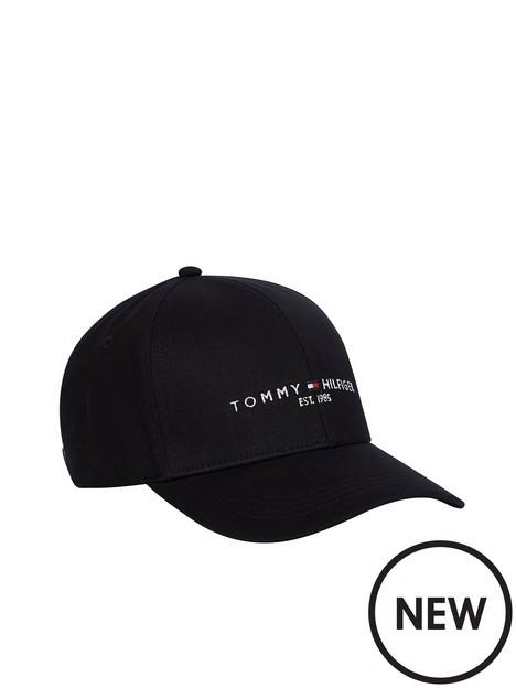 tommy-hilfiger-established-logo-baseball-cap-black