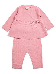 mamas-papas-baby-girls-wrap-knit-top-leggings-set-pink