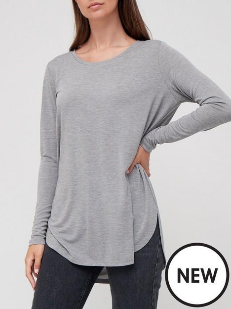 v-by-very-premium-long-sleeve-dipped-hem-tunic-grey