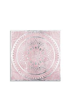 arthouse-blush-mandala-foiled-canvas