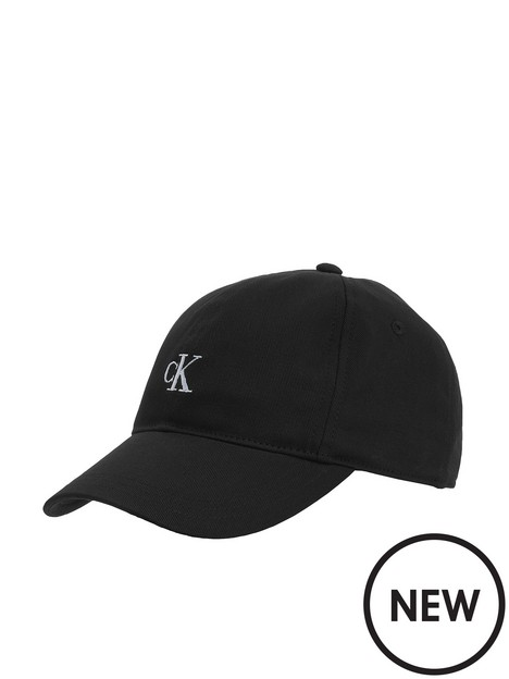 calvin-klein-jeans-kids-monogram-baseball-cap-black