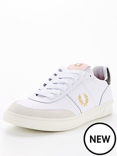 fred-perry-leather-and-suede-trainers-white
