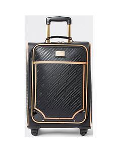 river-island-monogram-embossed-suitcase-black