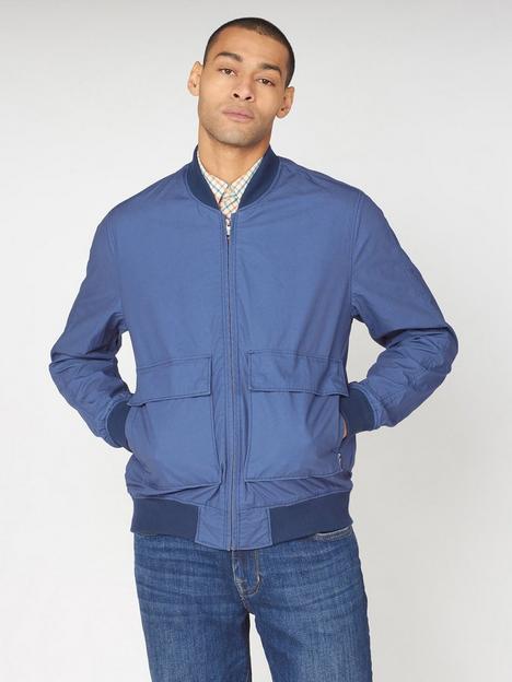 ben-sherman-laundered-bomber-jacket