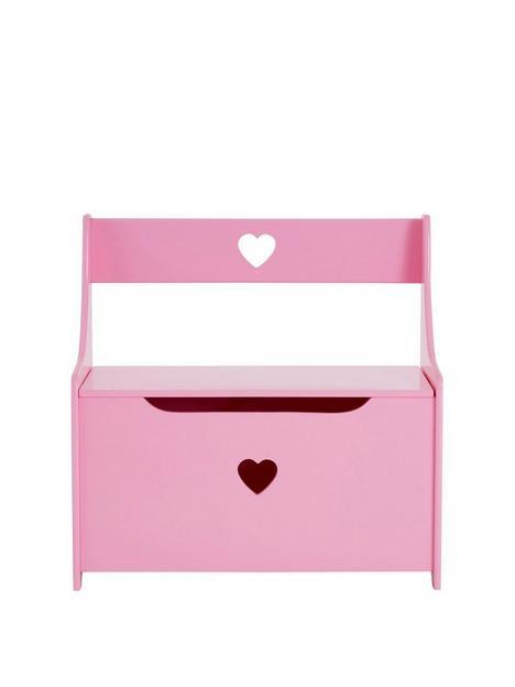 premier-housewares-heart-toynbspboxseat-pink