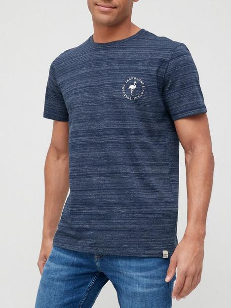 jack-jones-flamingo-logo-t-shirt-navy