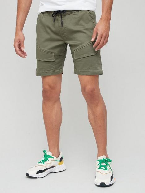 jack-jones-cargo-shorts-khaki