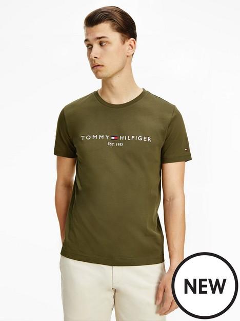 tommy-hilfiger-logo-t-shirt-putting-greennbsp