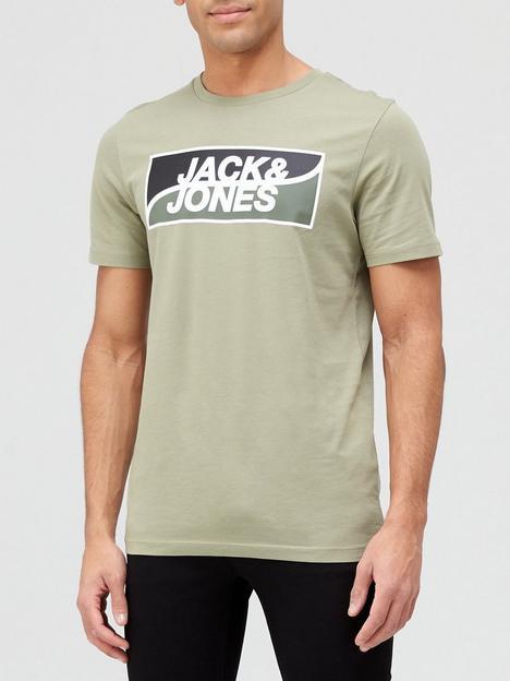 jack-jones-logo-t-shirt-green
